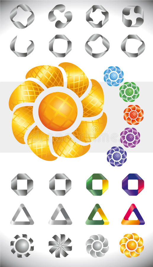 Set badges and ribbons royalty free stock images
