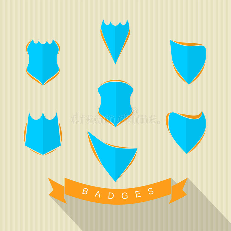 Set of Badges. For your, project, logo etc Features: • Kinds of badges vector • Available in: AI and JPG format • Easy to edit stock illustration