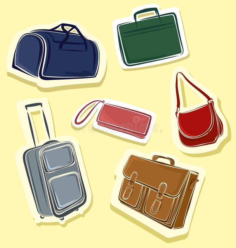Download Set of bags stock vector. Image of tote, wheel, handle - 24753019