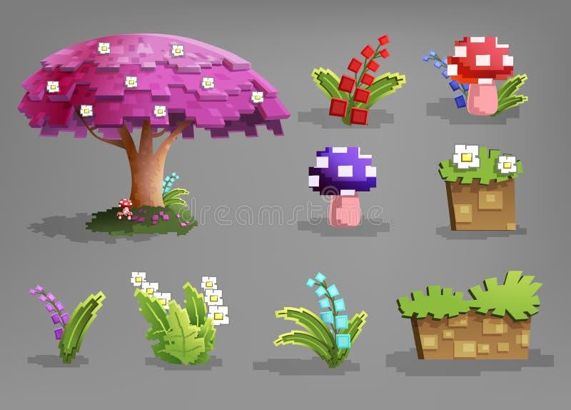 Set bajek rośliny ilustracji