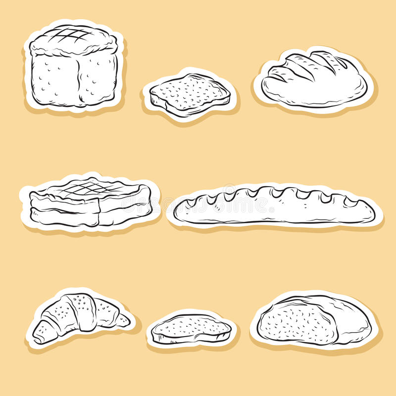 Download Set of Bakery icons stock illustration. Image of cupcake - 21949544