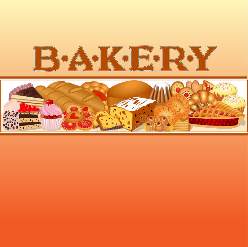 Download Of A Set Of Baking Bread For Bakery Stock Vector - Illustration: 27626359