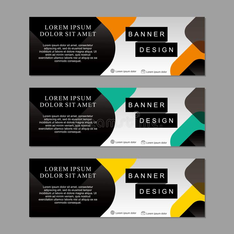 Set of banner template design suitable for web or advertising stock photography