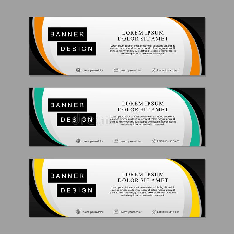Set of banner template design suitable for web or advertising royalty free stock images