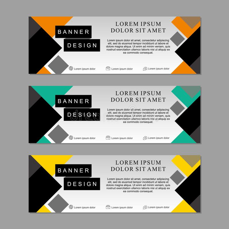 Set of banner template design suitable for web or advertising royalty free stock photos