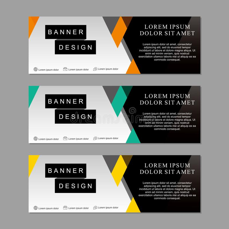 Set of banner template design suitable for web or advertising royalty free stock photo