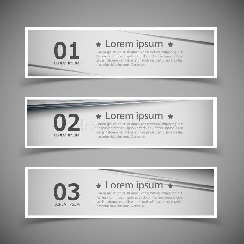 Set of banner templates. modern abstract design. Illustration stock illustration
