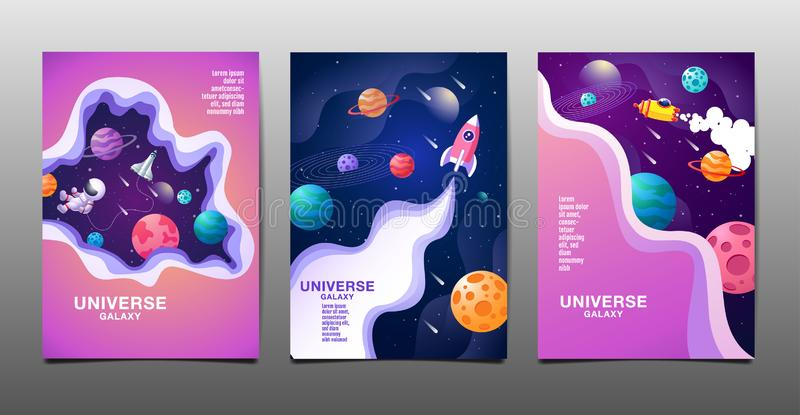 Set of banner templates. universe. space. space galaxy, design. vector illustration. Set of banner templates, universe, space,  space galaxy, flat design, vector vector illustration