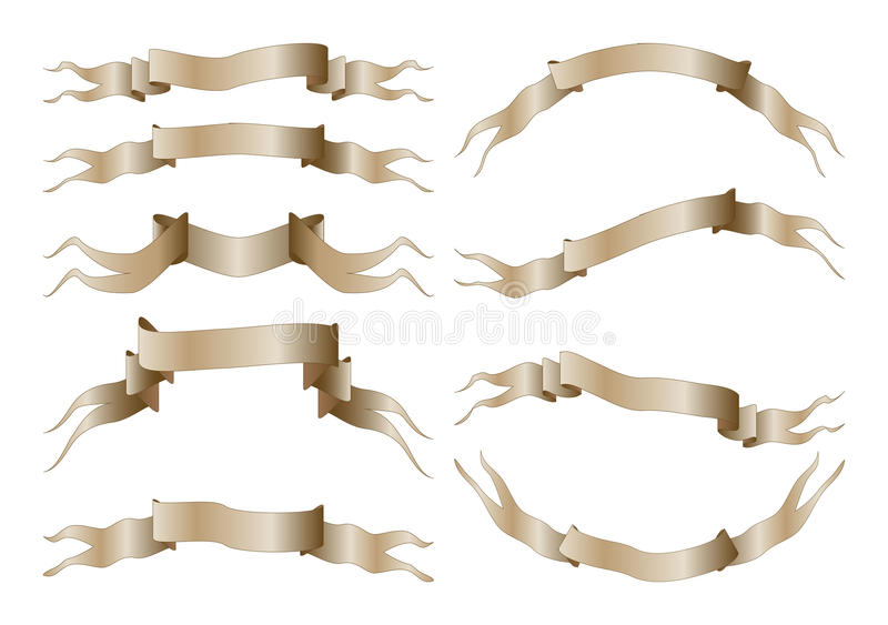 Download Set of banners stock vector. Image of manuscript, heading - 11132274