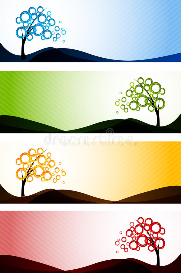 Download Set of banners stock vector. Image of design, concept - 23215666
