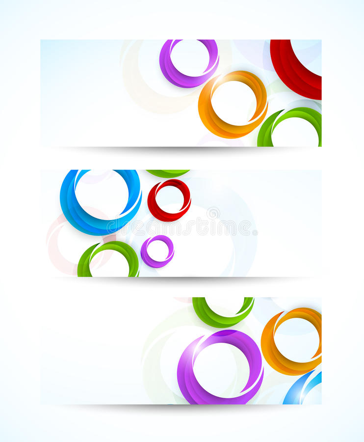 Set of banners with circles. Abstract illustration vector illustration