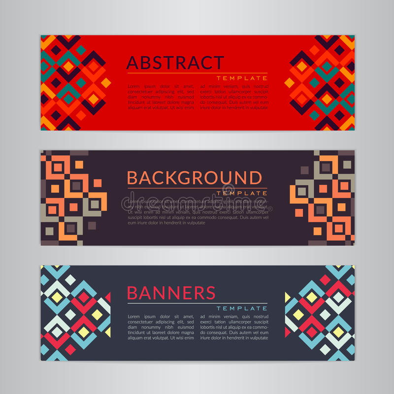 Download Set Banners Collection With Abstract Geometric Backgrounds. Design Templates For Your Projects. Stock Vector - Illustration of colorful, cover: 84276973