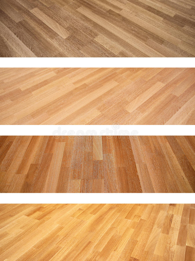 Set of banners with new oak parquet texture royalty free stock image