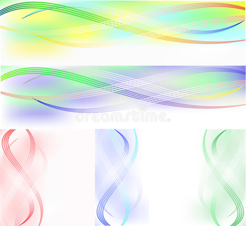 Download Set Of Banners From Wavy Lines Stock Vector - Image: 18636295