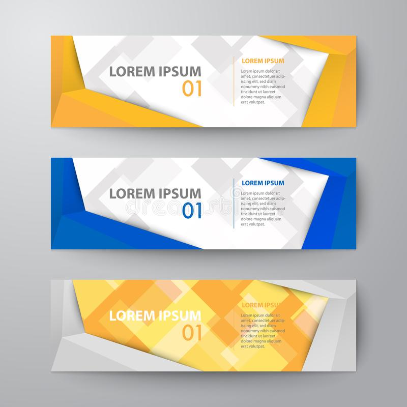Set of banners web template abstract vector background royalty free illustration