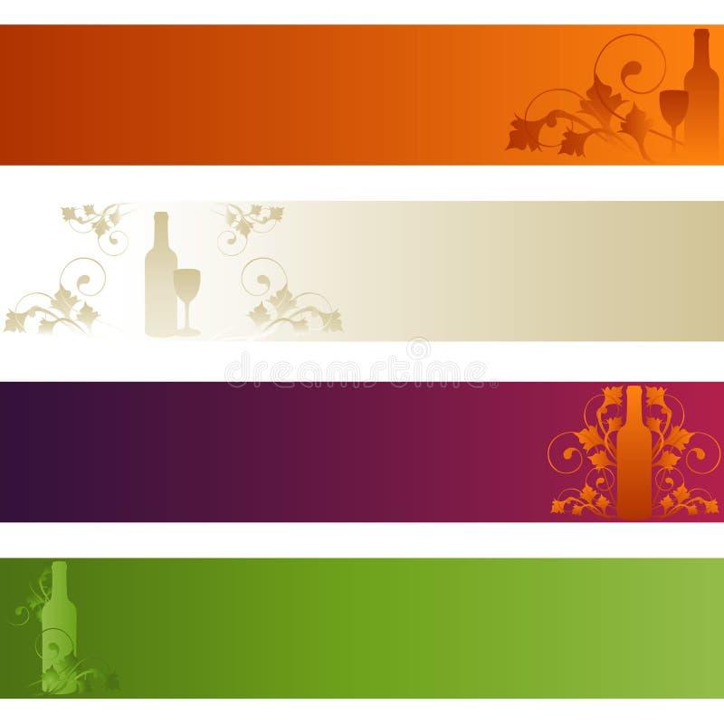 Set of Banners: Wine Theme stock photos