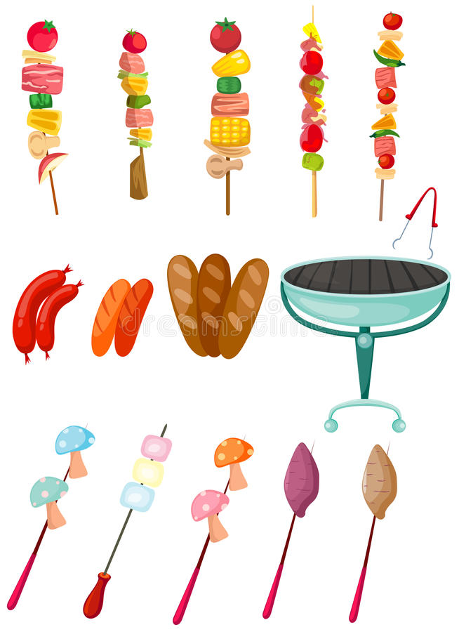 Set of barbecue stock illustration