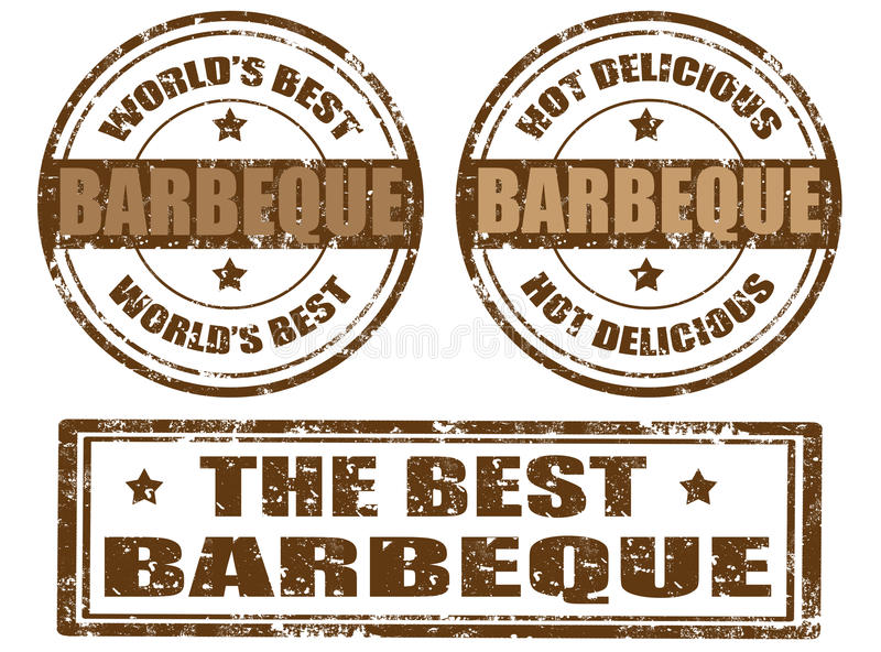 Set of barbeque stamps vector illustration
