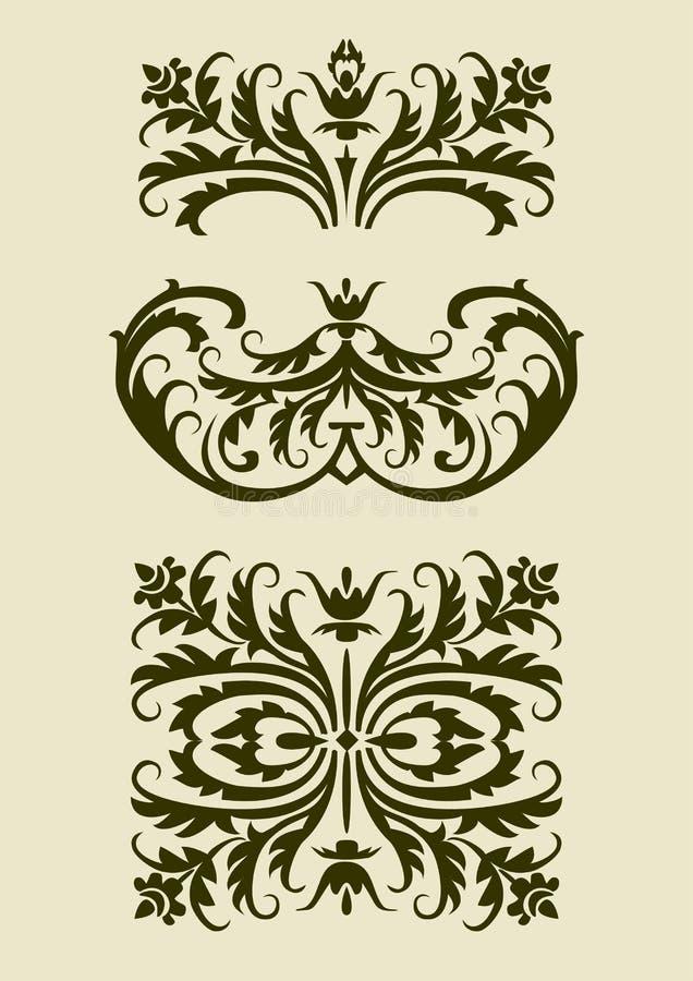 Set Of Baroque Vector  Ornaments For Design Stock Photo