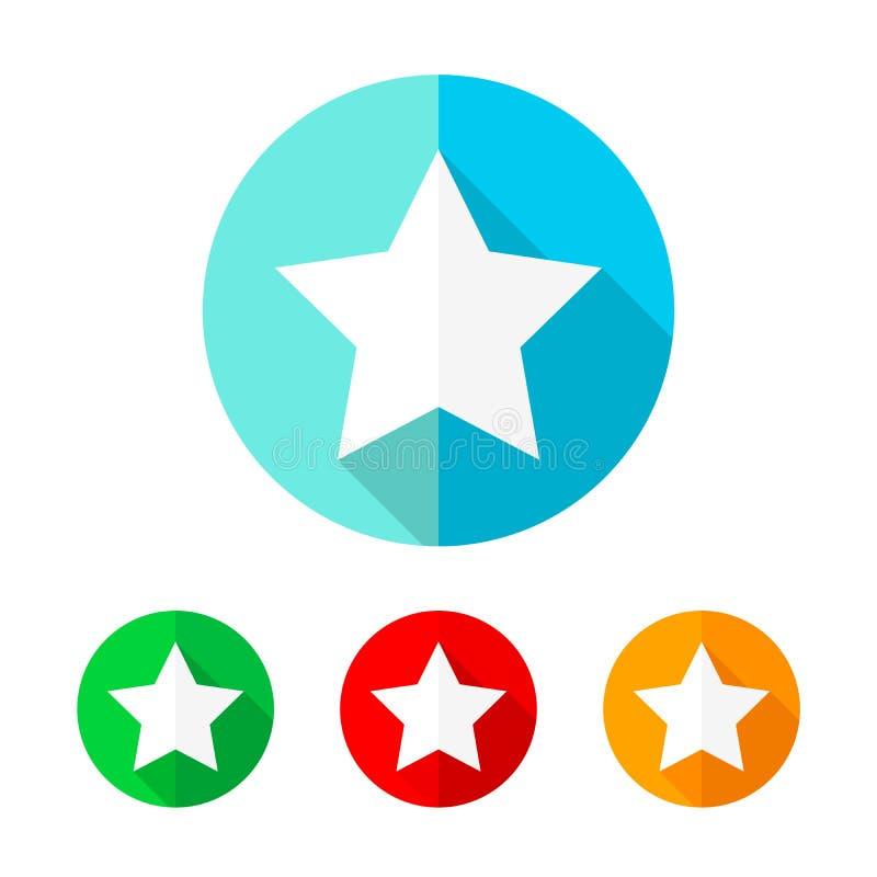 Set barwione gwiazdowe ikony również zwrócić corel ilustracji wektora ilustracji