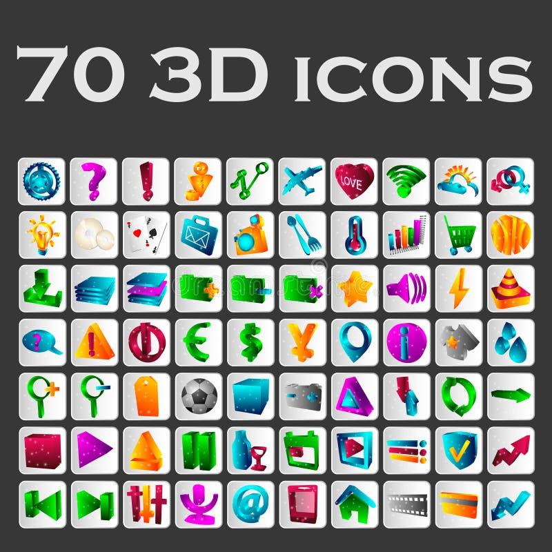set barwione ikony obrazy royalty free