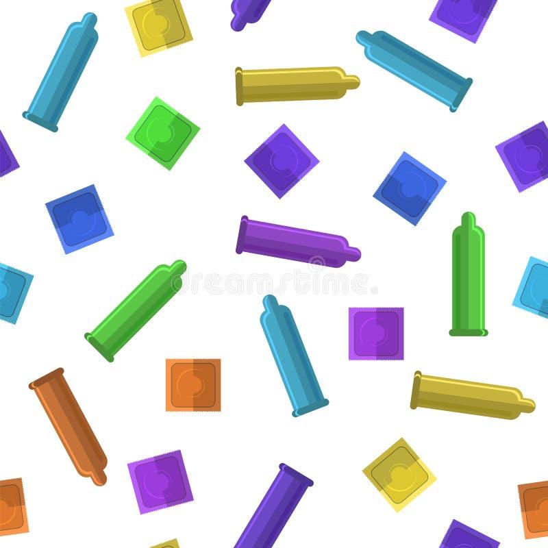 Set Barwioni kondomy ilustracji