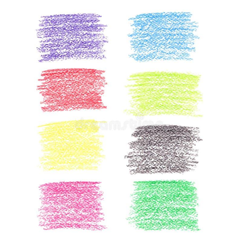 Set barwioni ołówkowi punkty royalty ilustracja
