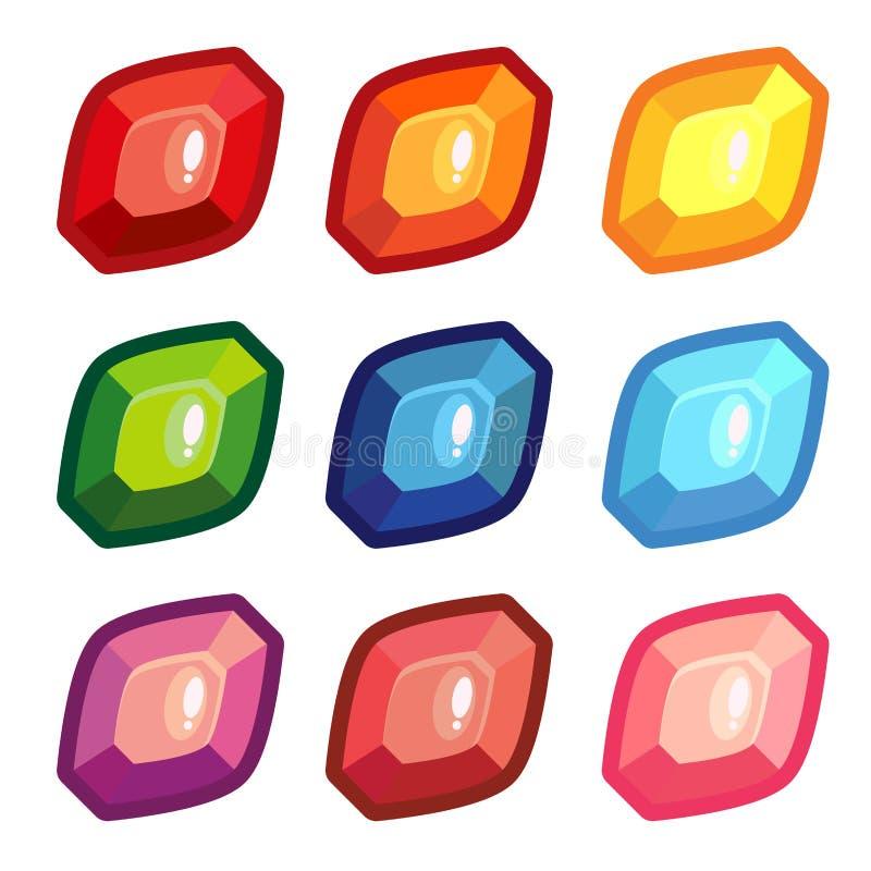Set barwioni szkotowi kształtów klejnoty ilustracja wektor