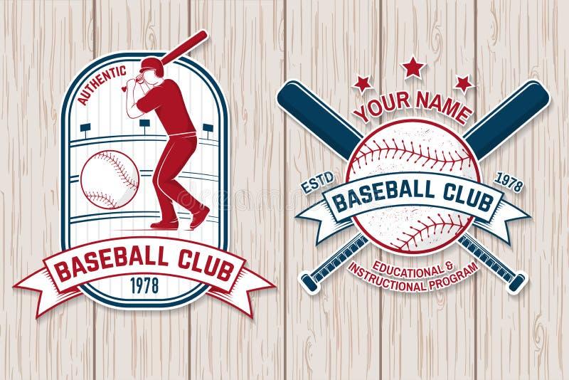 Set baseballa lub softballa świetlicowa odznaka również zwrócić corel ilustracji wektora Pojęcie dla koszula lub loga, royalty ilustracja