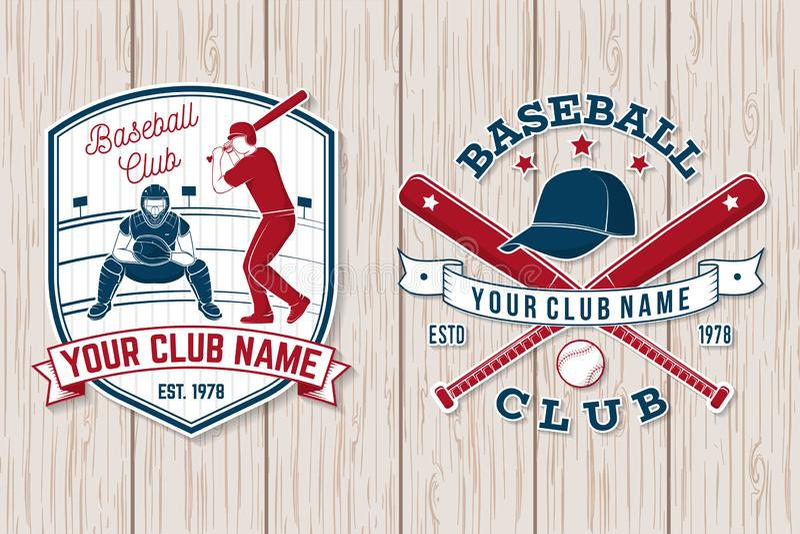 Set baseballa lub softballa świetlicowa odznaka również zwrócić corel ilustracji wektora Pojęcie dla koszula lub loga, ilustracja wektor
