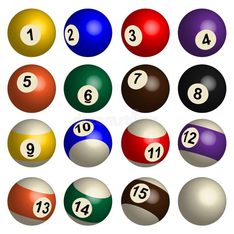 Set basen piłki w 3D ilustracja wektor
