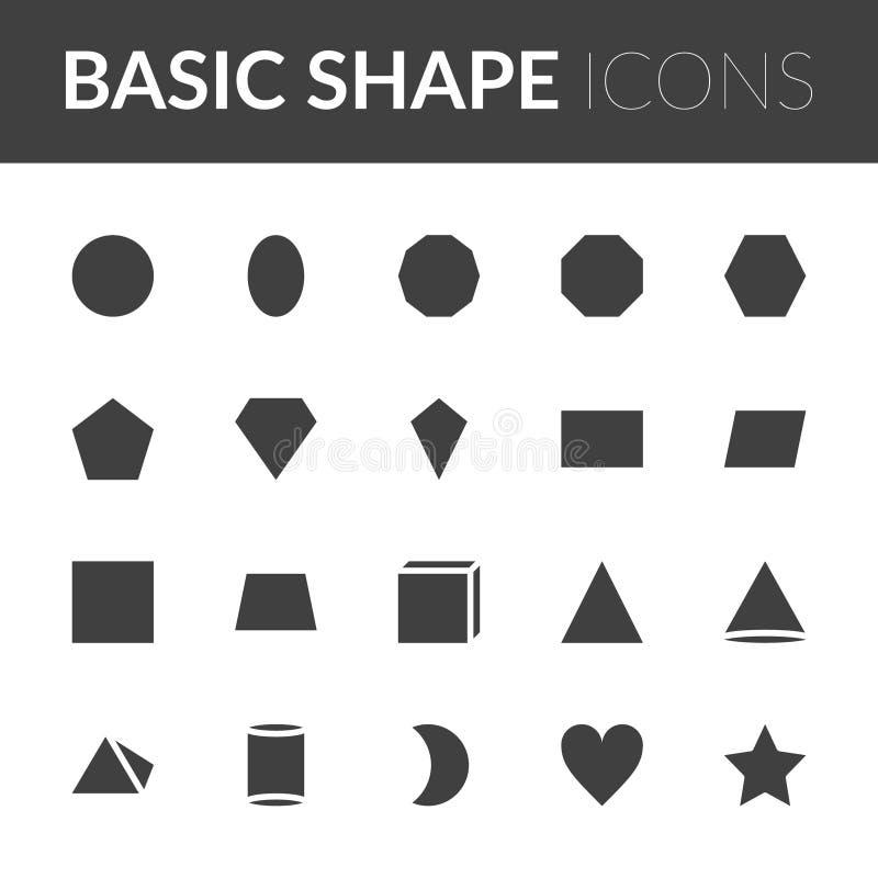 Set Of Basic Shape Icons. solid color shape vector illustration vector illustration
