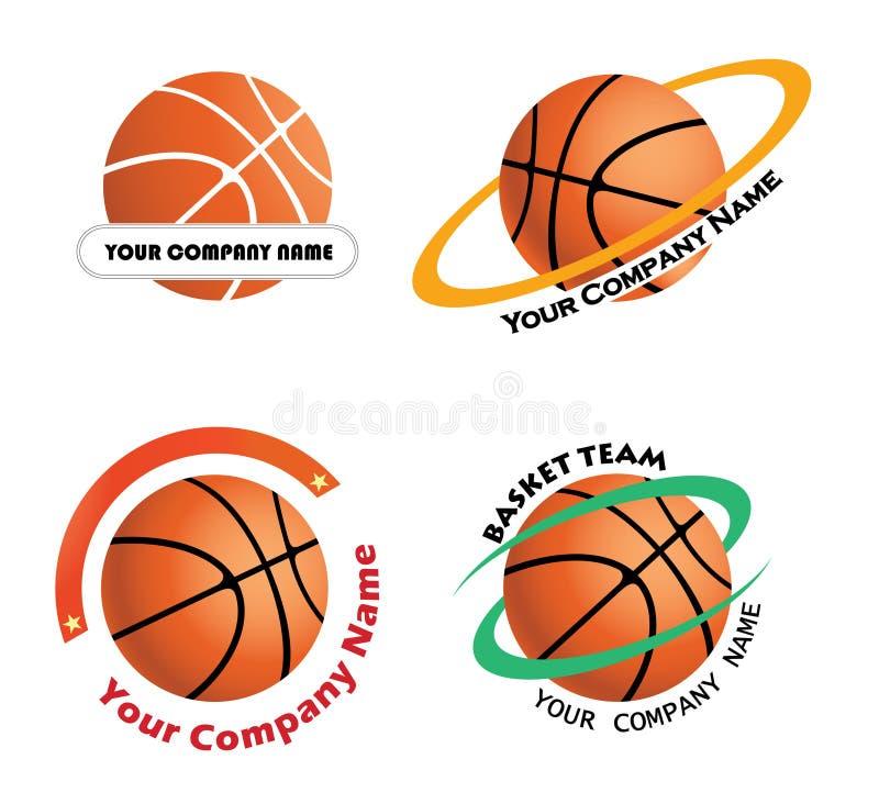 Set Basketball team logos royalty free illustration