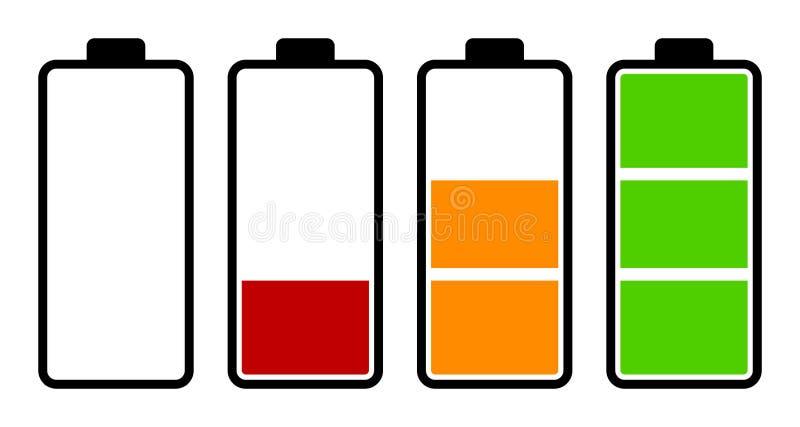 Set bateryjnego ładunku równy wskaźnik ilustracji