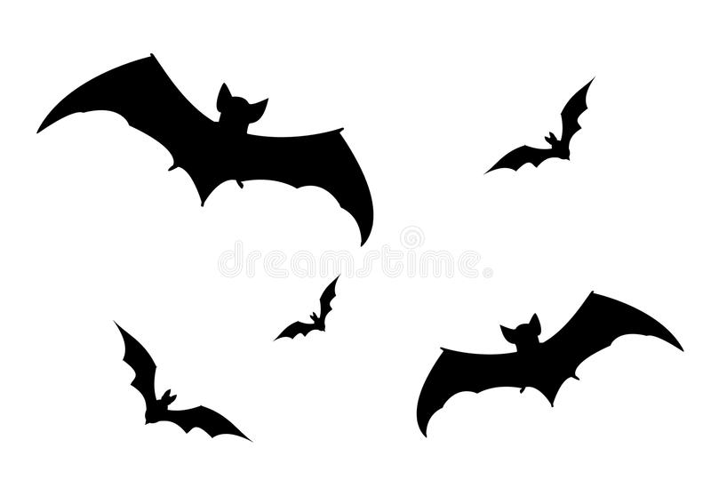 Download Set of bats silhouette, stock illustration. Illustration of illustration - 67822978