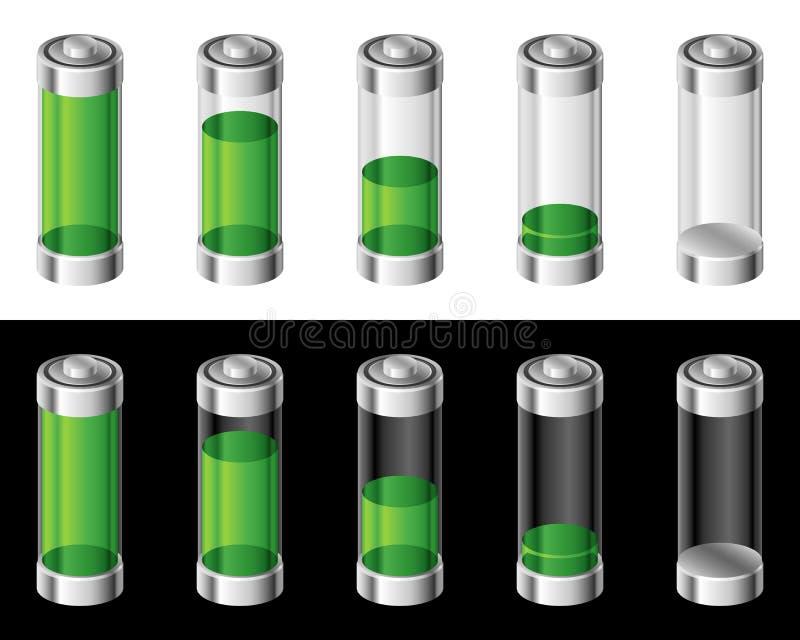 Set of Batteries royalty free illustration