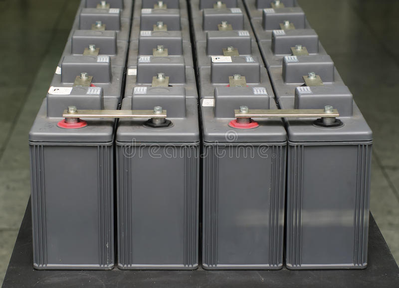 Set of battery. Equipment power supply accumulator unit royalty free stock photo