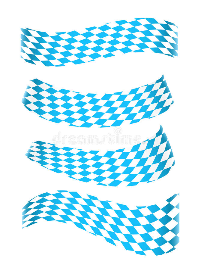 Set of bavarian banners. Set of banners in bavarian colors royalty free illustration