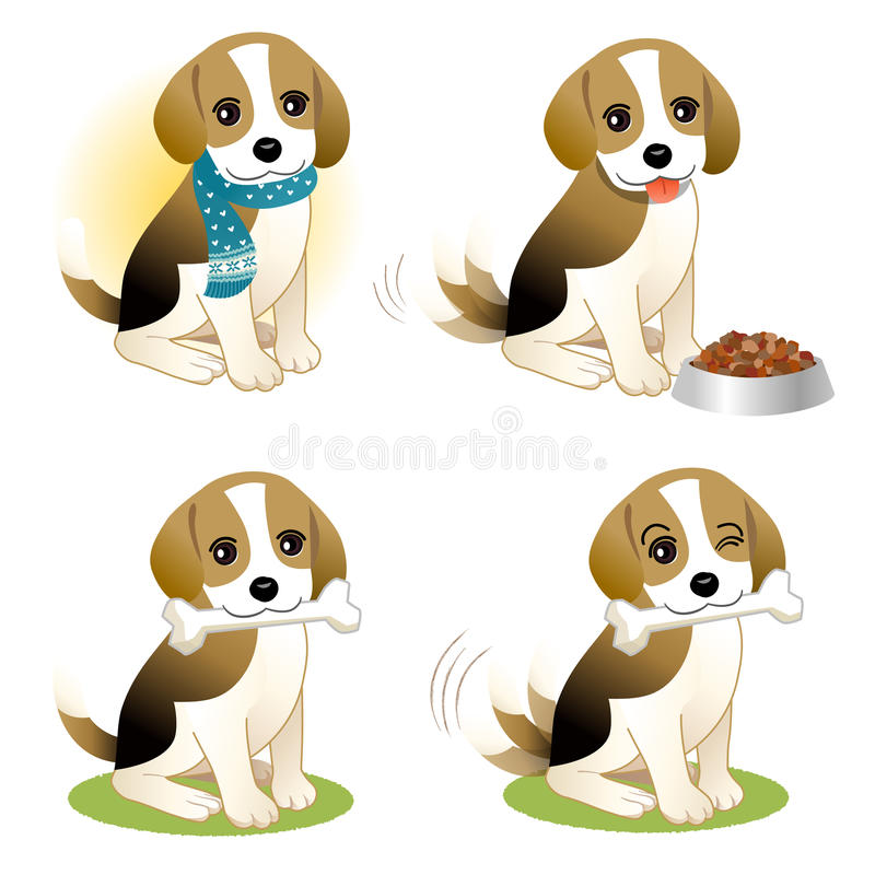Download Set of Beagle puppy stock vector. Illustration of eps10 - 28040983