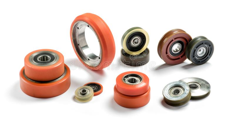 Set of bearings of different colors stock photo