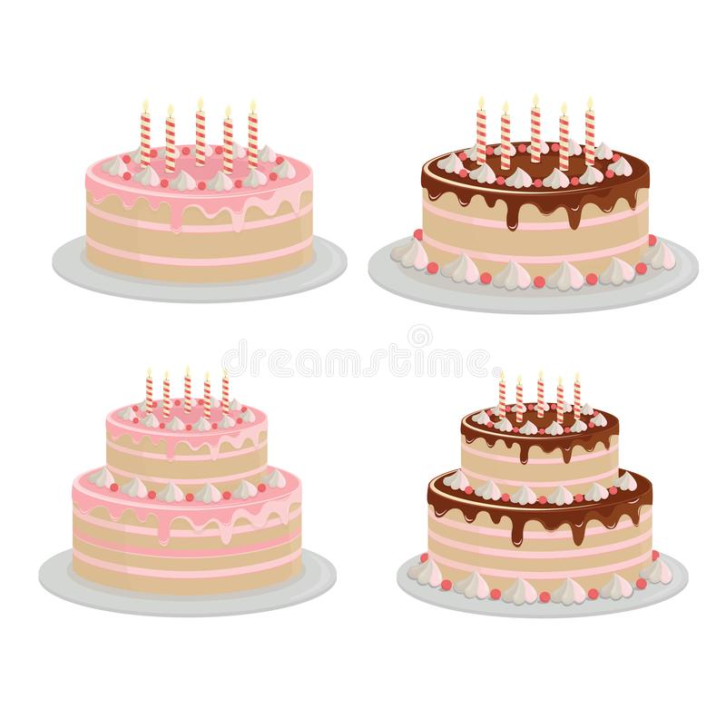 Incredible Cakes Birthdays Stock Illustrations 98 Cakes Birthdays Stock Birthday Cards Printable Trancafe Filternl