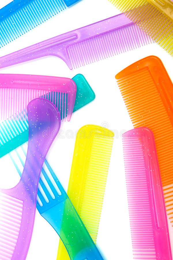 Download Set of beautiful comb stock photo. Image of hygiene, close - 21022160