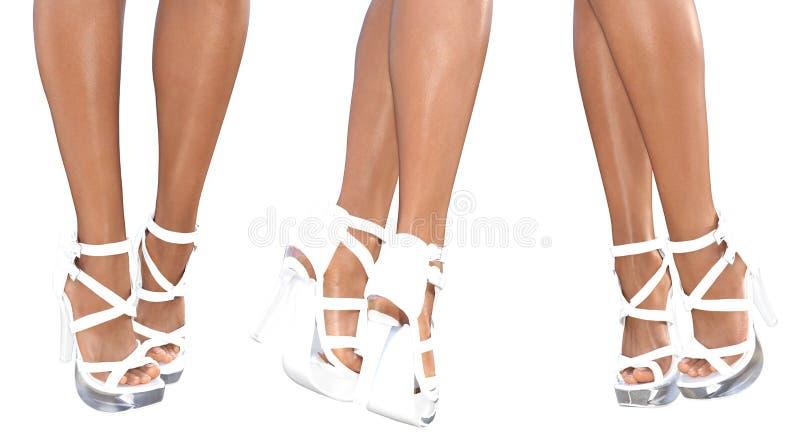 Download Set Beautiful Female Legs In Sandals High Heels. Stock Illustration - Image: 83712810