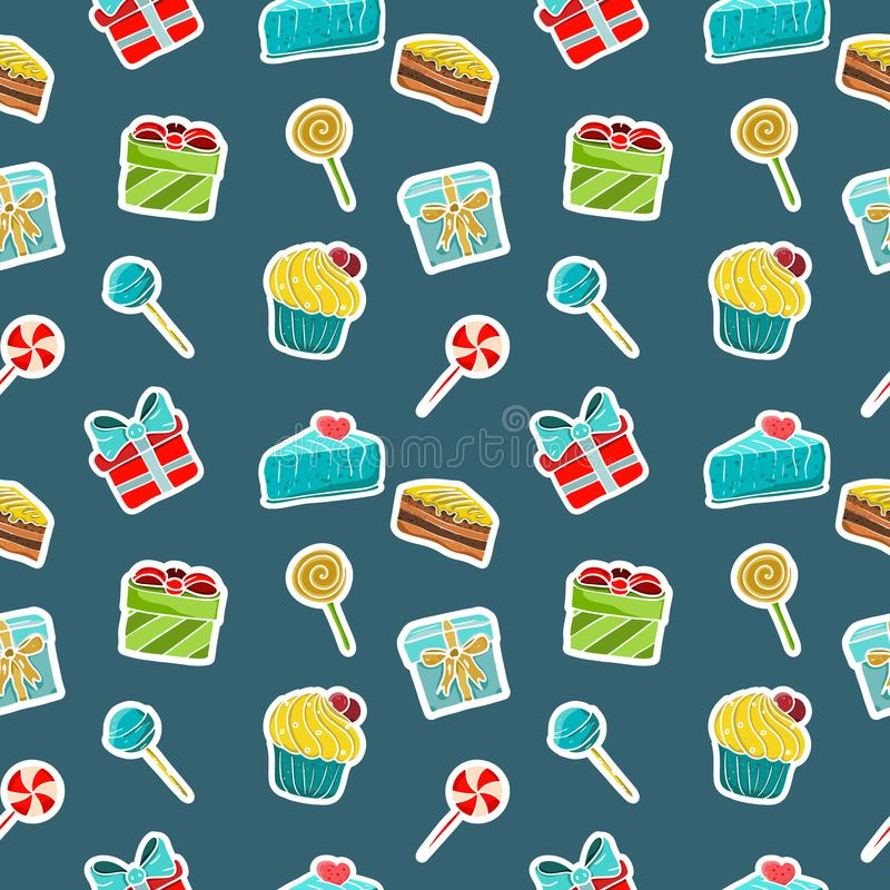 Set of beautiful icon sstickers stock illustration