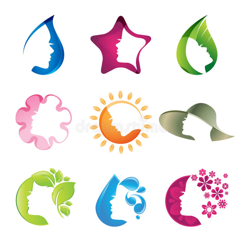 Download Set of beauty icons stock vector. Image of leaf, graphic - 25120189