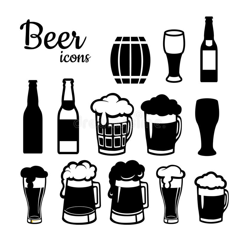 Set of beer icons vector illustration