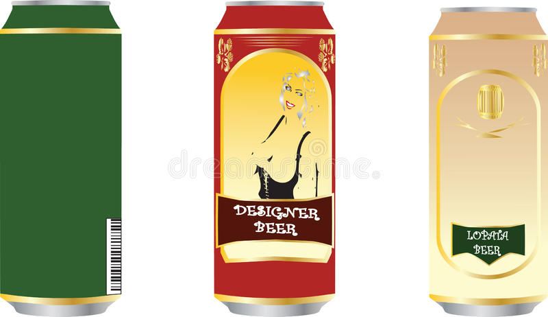 Download Set Of Beer Tins Royalty Free Stock Photos - Image: 12149958