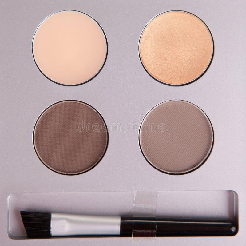 Download Set of beige eyeshadows stock image. Image of multicolor - 31015781