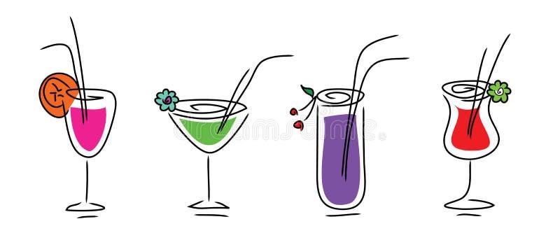 Set Of Beverages Stock Images