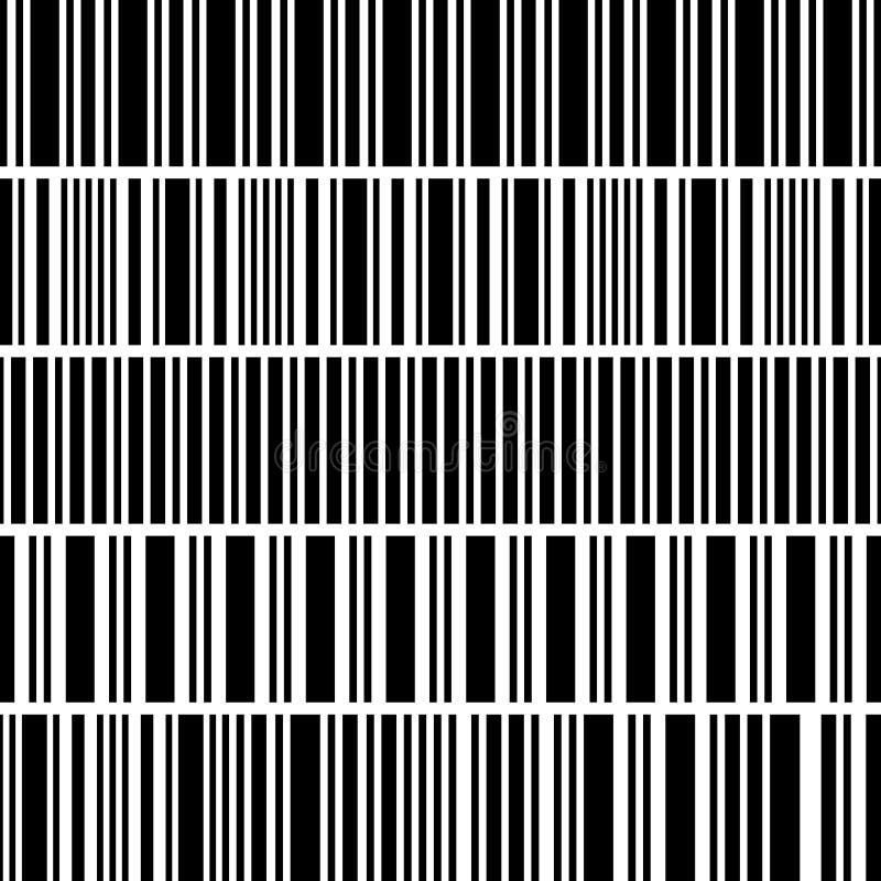 Set bezszwowi czarny i biały lampasy ilustracja wektor